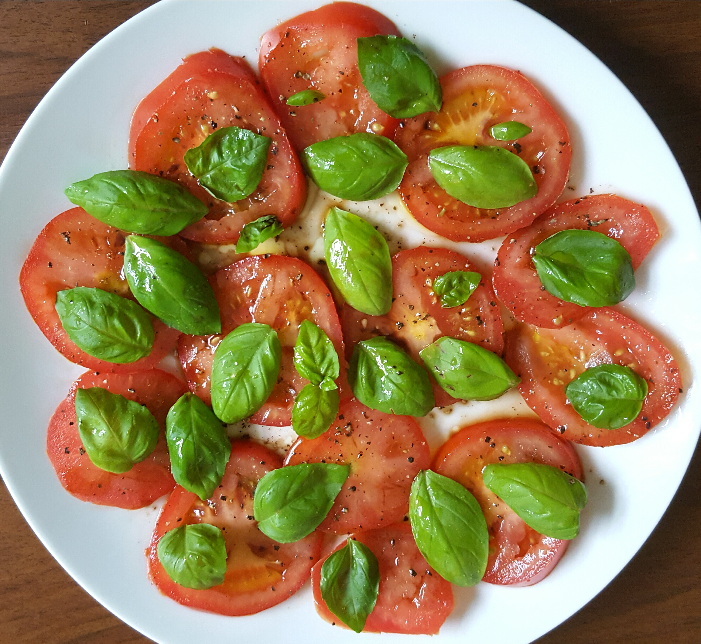 Tomato and Basil Salad by The Fat Foodie