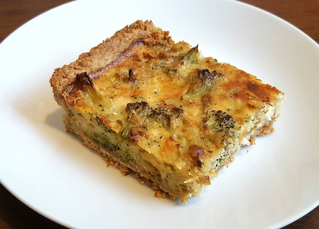 Broccoli and Parmesan Quiche by The Fat Foodie