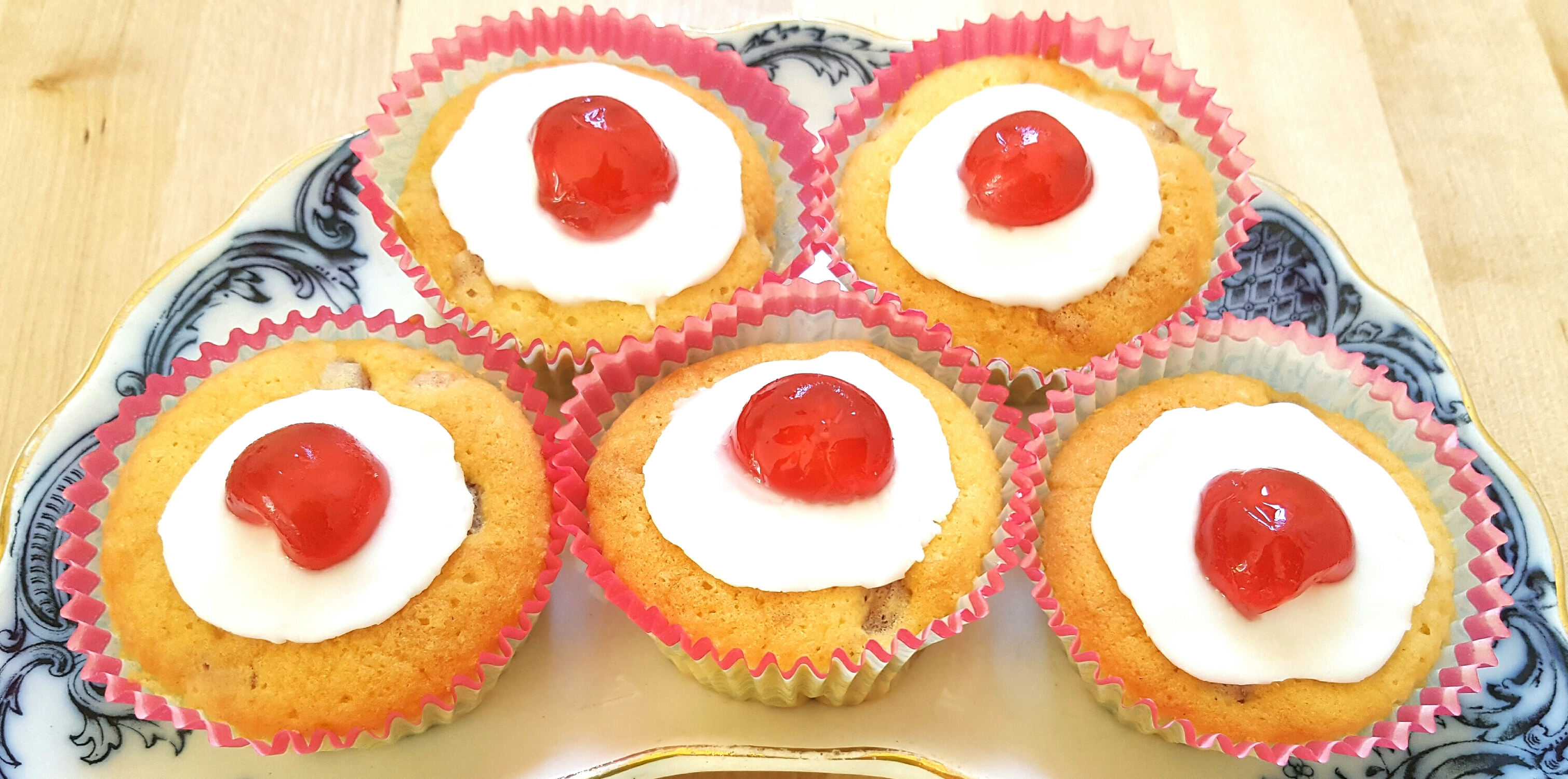 Cherry Cupcakes by The Fat Foodie