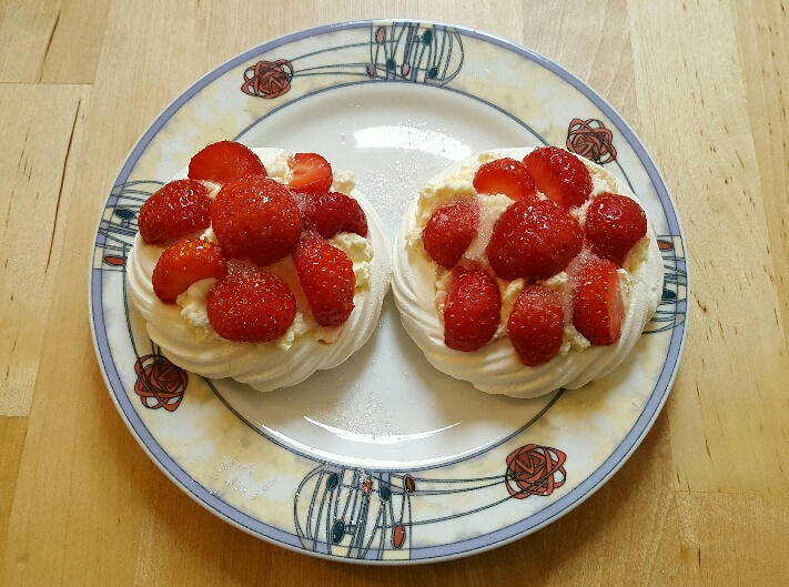 Strawberry Meringues.