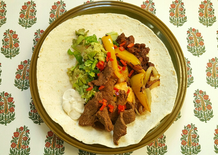Steak Fajitas by The Fat Foodie