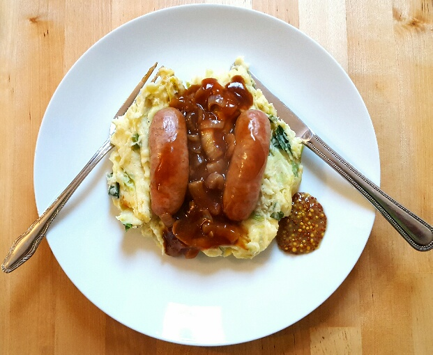 Sausages and Mash by The Fat Foodie