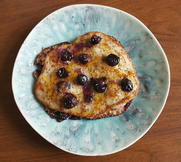 Deliciously Ella's Stack of Blueberry Pancakes cooked by The Fat Foodie