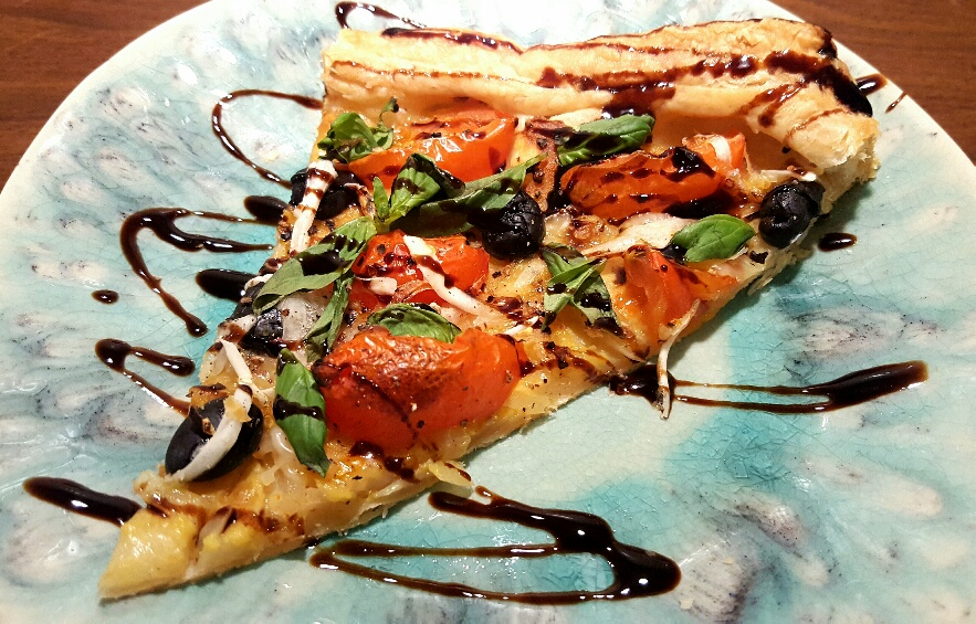 Roasted Garlic and Tomato Tart by The Fat Foodie