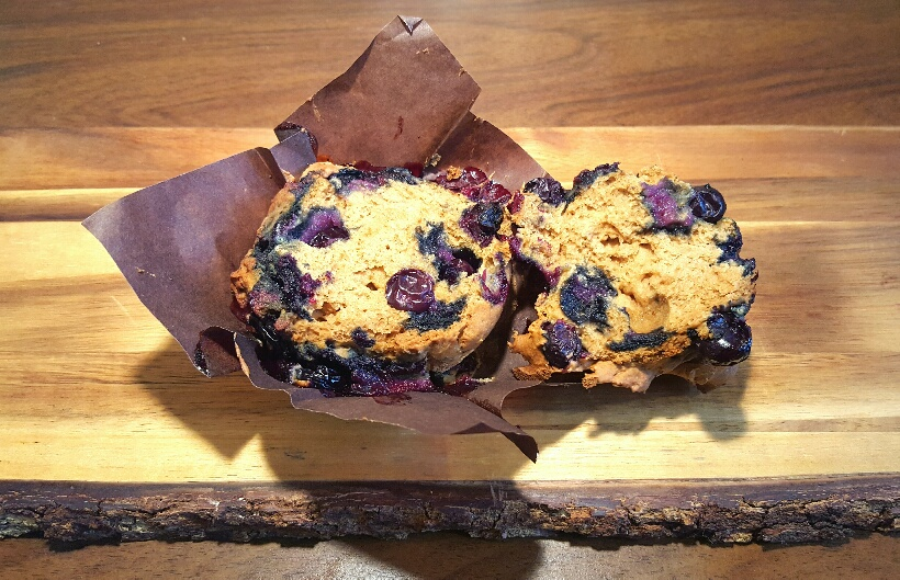 Blueberry Muffins by The Fat Foodie