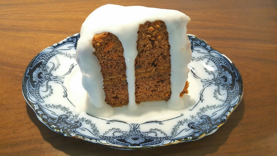 Gluten-Free Carrot and Pecan Cake made by The Fat Foodie