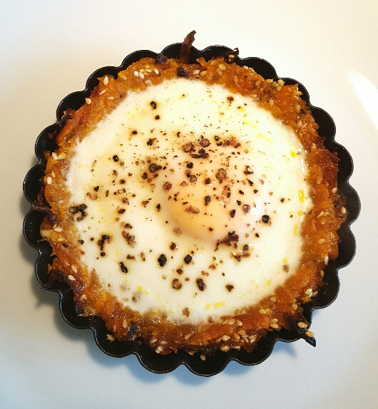 Sweet Potato Rostis with a Baked Egg by The Fat Foodie
