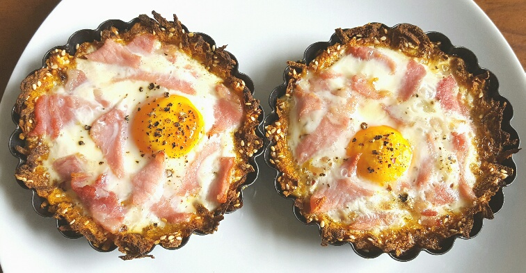 Sweet Potato Rostis with Baked Eggs and Smoked Bacon by The Fat Foodie
