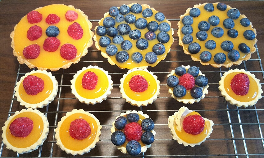 Freshly Filled Fruit Custard Tarts by The Fat Foodie