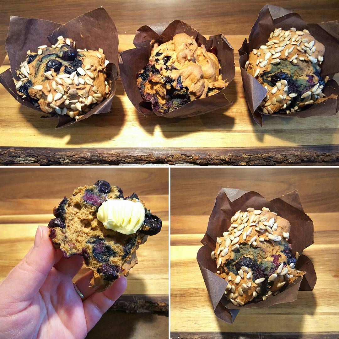 Sweet soft and tasty Blueberry Muffins anyone? Theyre dairyfree glutenfreehellip