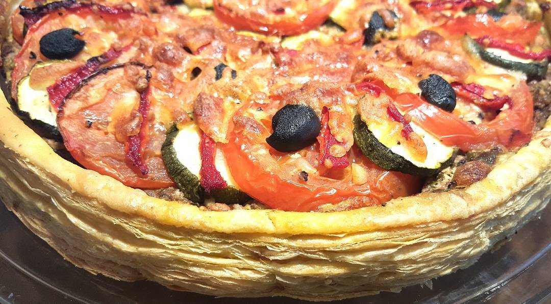 A Tomato and Mozzarella Tart thats a great standby recipehellip