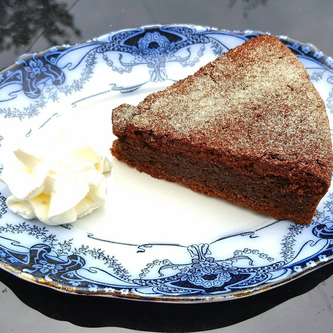This chocolate torte is decadent and luxurious with a richhellip
