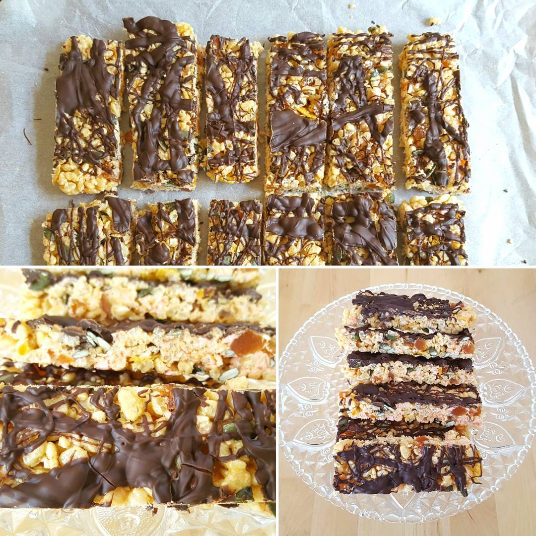 Heres a great recipe for homemade Chocolate Crispie Bars Youhellip