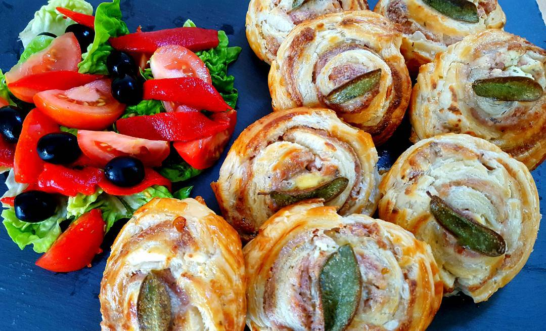 These Pinwheel Sausage Rolls are made with sageinfused sausagemeat thatshellip