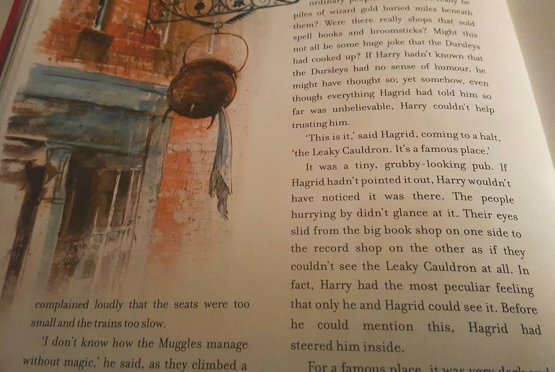 I wonder if The Leaky Cauldron is sandwiched between ahellip