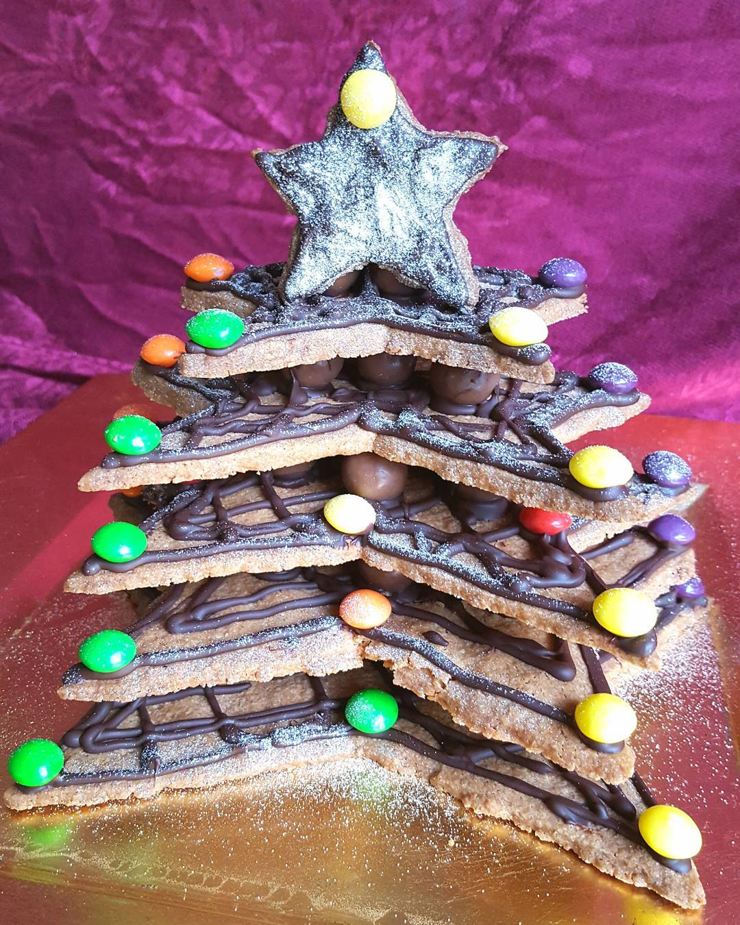 A stunning centrepiece Biscuit Christmas Tree Link in bio thefatfoodiehellip